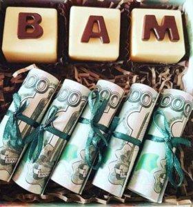 Шоколадные буквы. Сладкие подарки для любимых