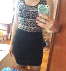 Платье с бондажной юбкой