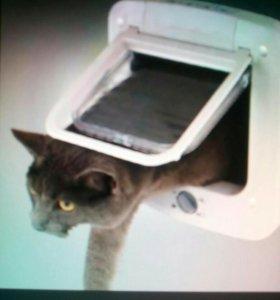 Дверца для кошки Установка