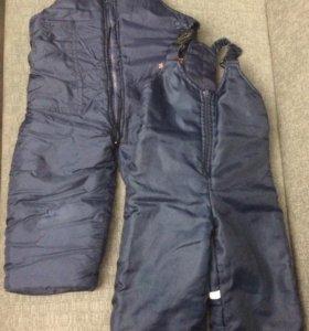 2 пары зимних/осенних брюк на мальчика 1-2 лет