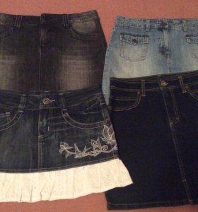 Юбки джинсовые размер 42-44