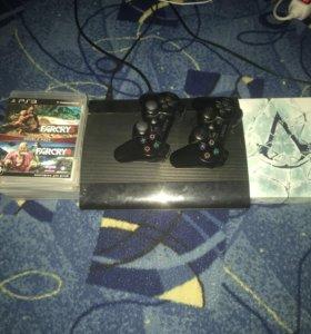 Приставка PS 3 500gb + 8 игр.