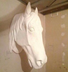 Скульптура.Голова лошади.