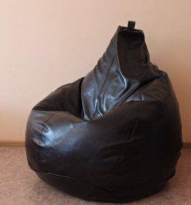 Кожаное кресло цвет венге
