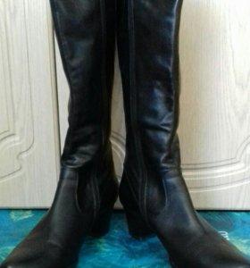 Сапоги кожаные. Весна-осень. 40 размер