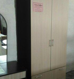 Шкаф 2х створчатый с ящиками