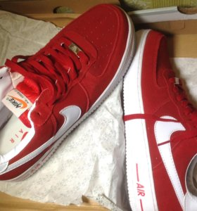 Кроссовки nike airforce 1 suede red