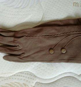 Перчатки утепленные новые