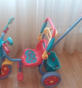 Детский 3-х колесный велосипед с ручкой ТОТОША