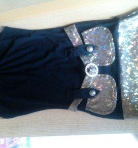 Новый костюм :платье с накидкой Торг