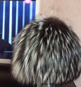 Шапка зимняя чернобурка