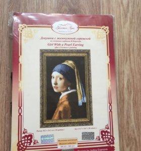 Вышивка Девушка с жемчужной сережкой (пр.Германия)