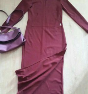 Платье лапша длинное