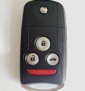 Выкидной ключ ключ для Honda 3 кнопки + 1