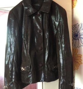 кожанная куртка с лазерной обработкой