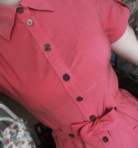 Платье-рубашка 42-44