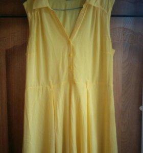Летнее платье 56 размер.