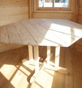 Стол в шестигранную беседку
