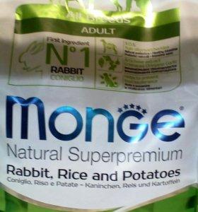 Корм Monge для собак всех пород с кроликом