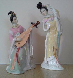 Китаянка. Танцующая девушка и девушка с пипа. Китай. Цена за пару!