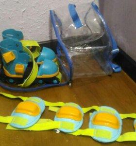 Ролики детские раздвижные от 15 до 20 см на обувь