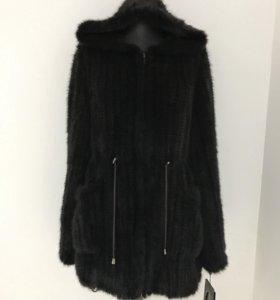 Куртка-парка из вязаной норки
