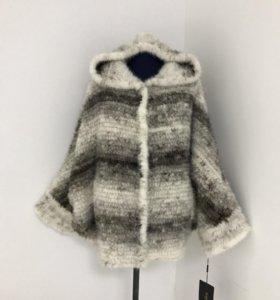 """Куртка из вязаной норки, цвет """"крестовка"""""""