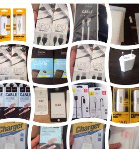 Ассортимент товаров для мобильных устройств.
