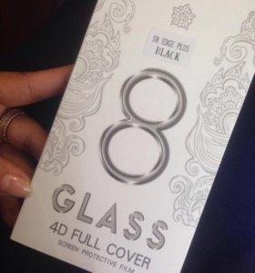 Защитное стекло 4D на S8 EDGE Plus (Black).