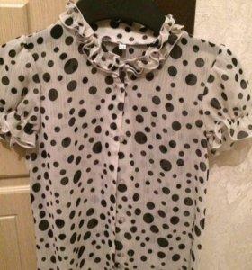 Блузка для школы размер 128