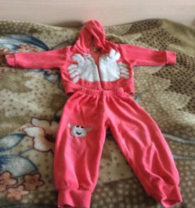 Детский костюмчик/ штанишки +курточка 68-74