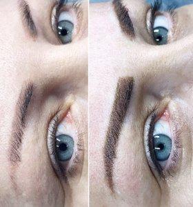 Татуаж бровей, перманентный макияж губ и век