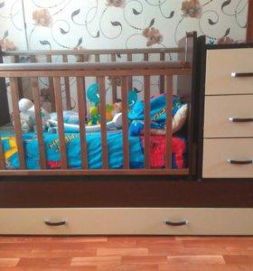 Детская кровать-кочалка