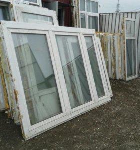 Окна пластиковые демонтированные