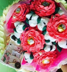 Цветы из конфет, букеты из конфет