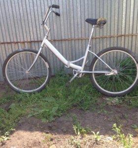 Велосипед хромовый
