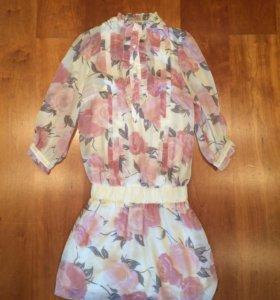 Новое платье шифоновое xs-s