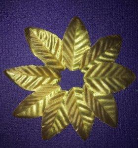 Золотые листочки флор декор