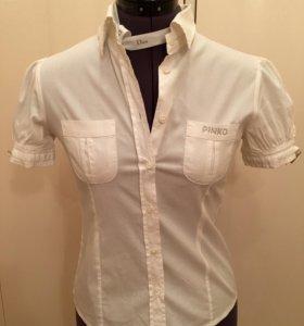 Белая рубашка Pinko с коротким рукавом