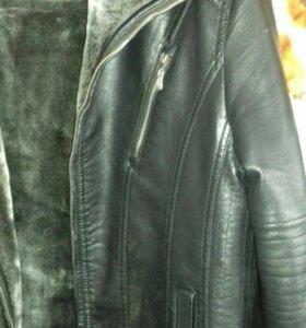 куртка кожаня зимня