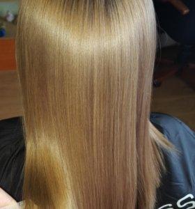 Восстановление ботокс для волос (выпрямление)