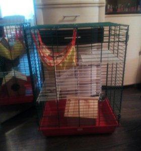 Клетка для попугаев и шиншиллы