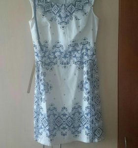 Платье. Роспись гжель.