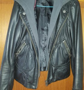 кожаная куртка размер S