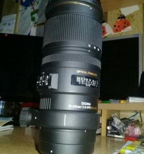 Объектив Sigma 70-200 2.8 для Canon