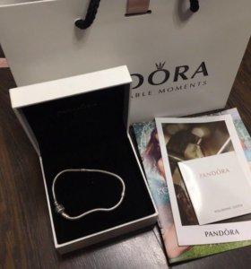 Оригинальный браслет Pandora, размер 18