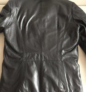 Куртка / полупальто кожа и мех овчины