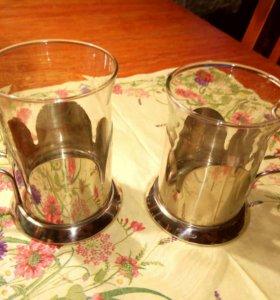 Новые стаканы с подстаканниками