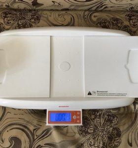 Весы детские электронные с цифровым ростомером.