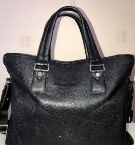 Мужская кожаная сумка б/у